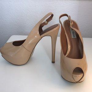 Steve Madden Creme Platform Heels